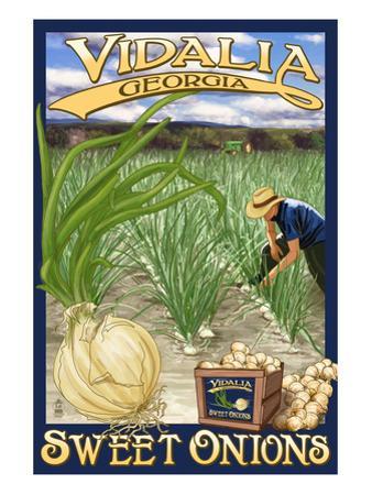 Vidalia, Georgia - Onion Field by Lantern Press