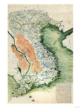 Vietnam - Panoramic Map by Lantern Press