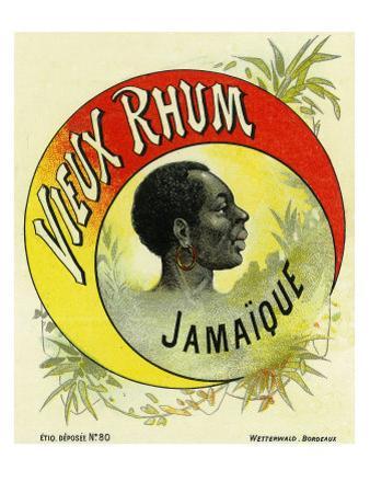 Vieux Rhum Jamaique Brand Rum Label by Lantern Press