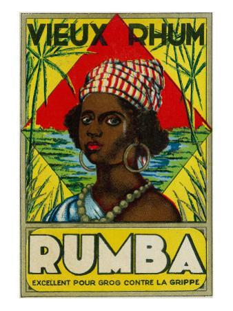 Vieux Rhum Rumba Brand Rum Label by Lantern Press
