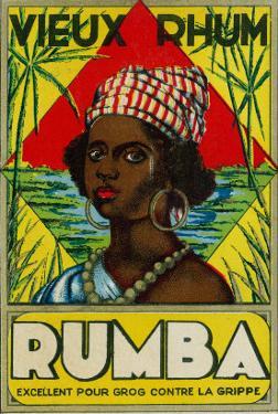 Vieux Rhum Rumba Brand Rum Label by Lantern Press
