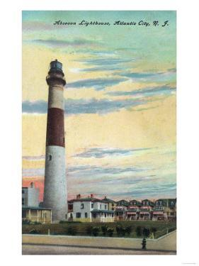 View of Absecon Lighthouse - Atlantic City, NJ by Lantern Press