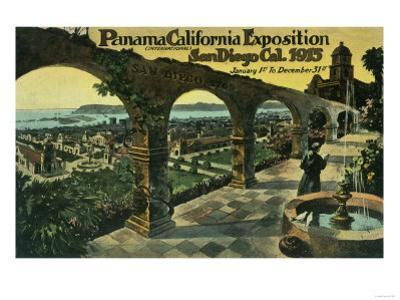 View of City from a Mission, Panama-CA Expo - San Diego, CA by Lantern Press