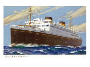 View of Cunard Ocean Liner Britannic by Lantern Press