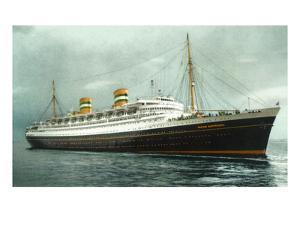 View of Holland American Ocean Liner SS Nieuw Amsterdam by Lantern Press