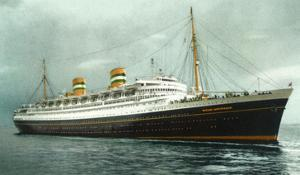 View of Holland American Ocean Liner SS Nieuw Amsterdam by Lantern Press