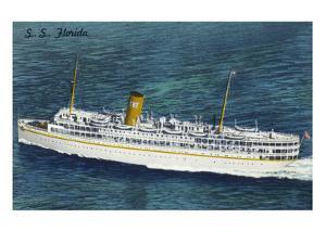 View of Nassau Cruises Liner SS Florida by Lantern Press
