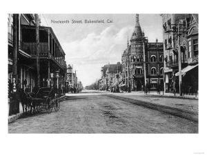 View of Nineteenth Street No. 2 - Bakersfield, CA by Lantern Press