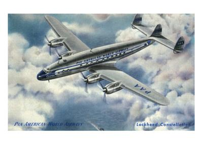 View of Pan American World Airways Lockheed Constellation Plane by Lantern Press