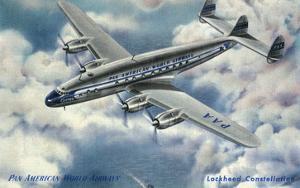 View of Pan American World Airways Lockheed Constellation Plane by Lantern Press