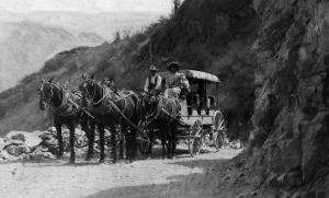 View of Stagecoach Cape Horn Near Chelan Canyon - Lake Chelan, WA by Lantern Press
