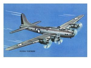 View of the Boeing B-17 Flying Fortress Plane by Lantern Press