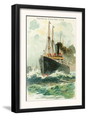 View of the Patricia at Sea, Hamburg-America Line by Lantern Press