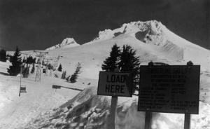 View of the Timberline Ski Lift - Mt. Hood, OR by Lantern Press
