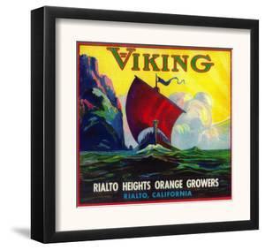 Viking Orange Label - Rialto, CA by Lantern Press