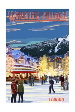 Village Scene - Whistler, Canada by Lantern Press