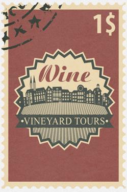 Vineyard Tours Stamp by Lantern Press