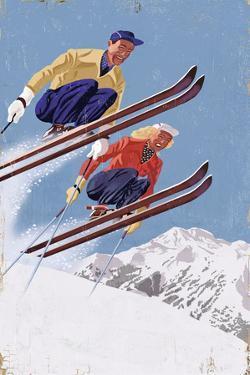 Vintage Skiers by Lantern Press