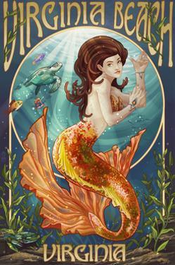 Virginia Beach, Virginia - Mermaid by Lantern Press