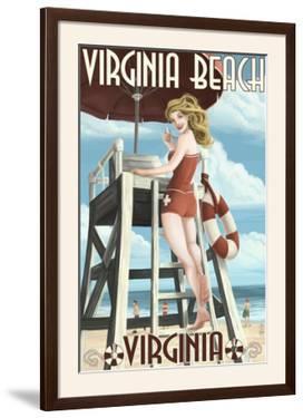 Virginia Beach, Virginia - Pinup Girl Lifeguard by Lantern Press
