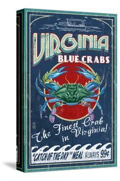 Virginia Blue Crabs by Lantern Press