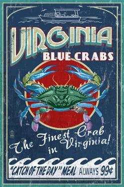 Virginia Blue Crabs by Lantern Press