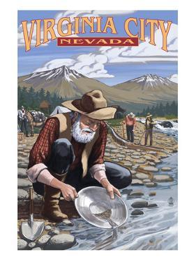 Virginia City, Nevada - Gold Panner by Lantern Press