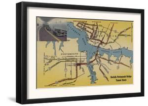 Virginia - Detailed Map of Norfolk-Portsmouth Bridge Tunnel by Lantern Press