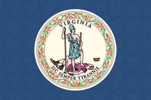 Virginia State Flag by Lantern Press