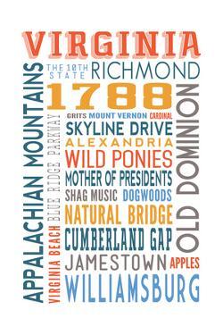 Virginia - Typography by Lantern Press
