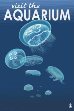 Visit the Aquarium, Jellyfish Scene by Lantern Press