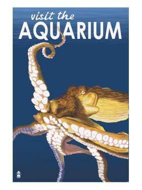 Visit the Aquarium, Octopus Scene by Lantern Press