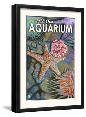 Visit the Aquarium, Tidepool Scene by Lantern Press