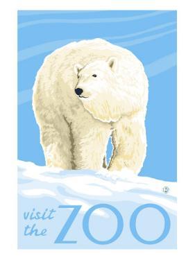 Visit the Zoo, Polar Bear Solo by Lantern Press