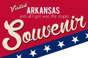 Visited Arkansas - Authentic Souvenir by Lantern Press