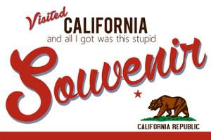 Visited California - Authentic Souvenir by Lantern Press