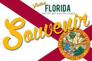 Visited Florida - Authentic Souvenir by Lantern Press