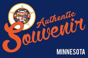 Visited Minnesota - Authentic Souvenir by Lantern Press