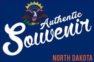 Visited North Dakota - Authentic Souvenir by Lantern Press