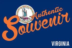 Visited Virginia - Authentic Souvenir by Lantern Press
