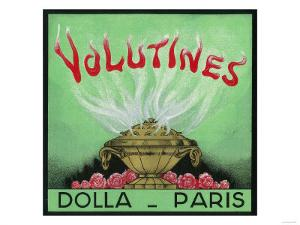 Volutines Perfume Label - Paris, France by Lantern Press
