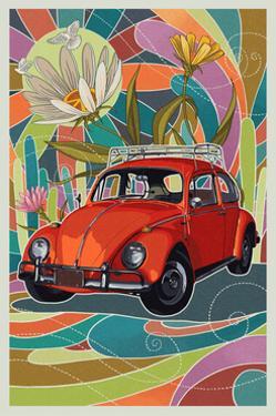 VW Bug by Lantern Press
