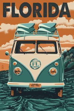 VW Van - Florida by Lantern Press