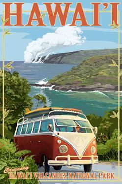 VW Van - Hawaii Volcanoes National Park by Lantern Press