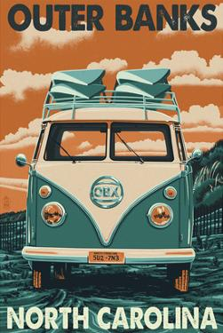 VW Van - Outer Banks, North Carolina by Lantern Press