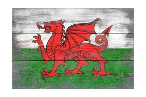 Wales Country Flag - Barnwood Painting by Lantern Press