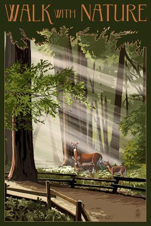 Walk with Nature - National Park WPA Sentiment by Lantern Press