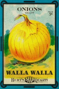 Walla Walla - Onion Seed Packet by Lantern Press