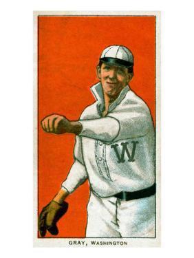 Washington D.C., Washington Nationals, Dolly Gray, Baseball Card by Lantern Press
