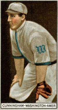 Washington D.C., Washington Nationals, William Cunningham, Baseball Card by Lantern Press